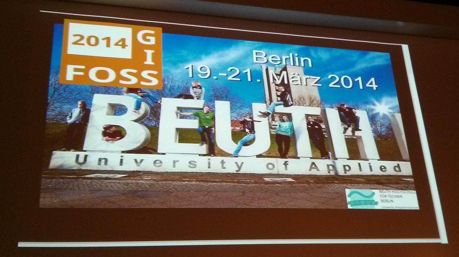 FOSSGIS 2014 in der Beuth Hochschule in Berlin (http://meggsimum.de)