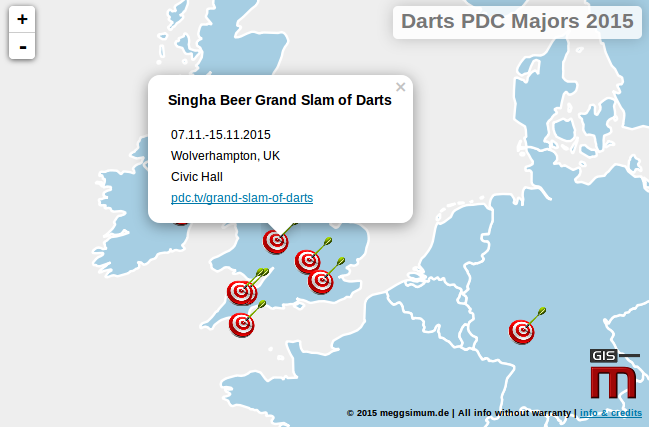 major turniere darts