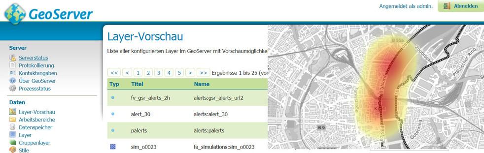 Banner PostGIS und GeoServer Schulung